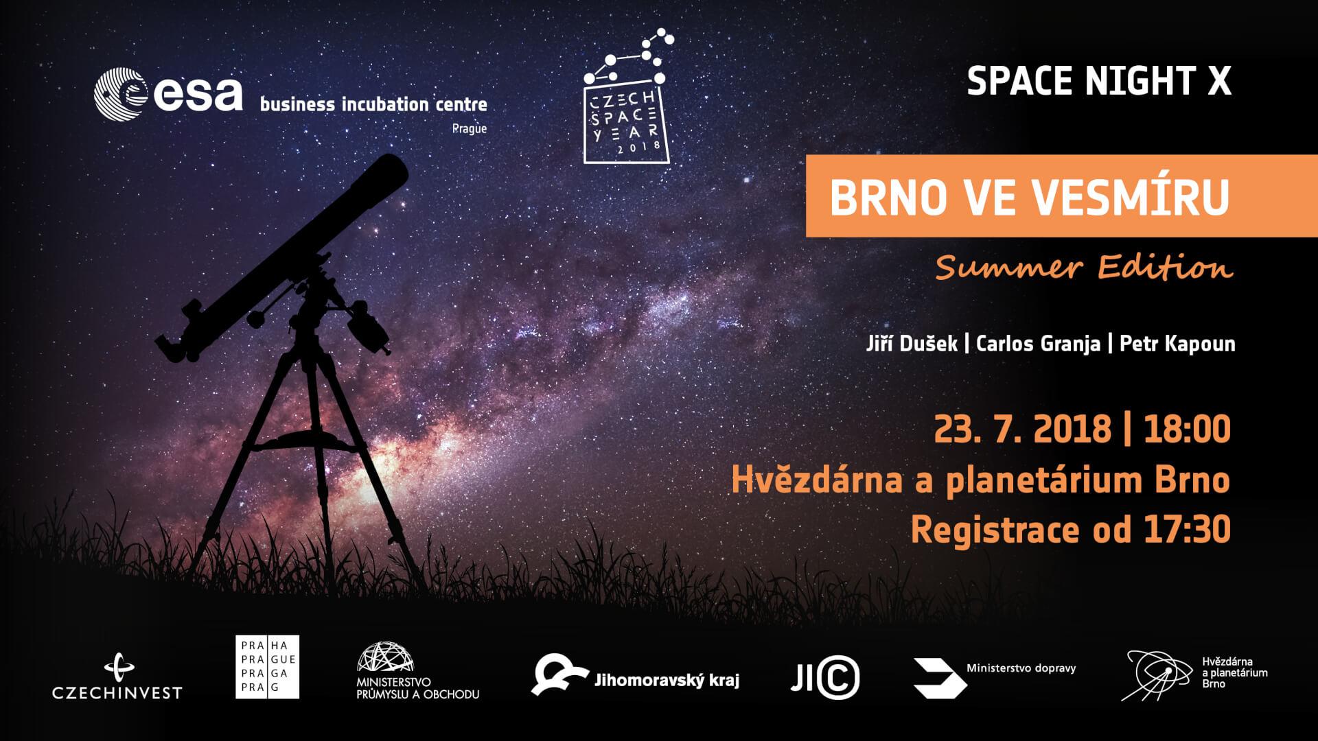 Space Night X: BRNO VE VESMÍRU