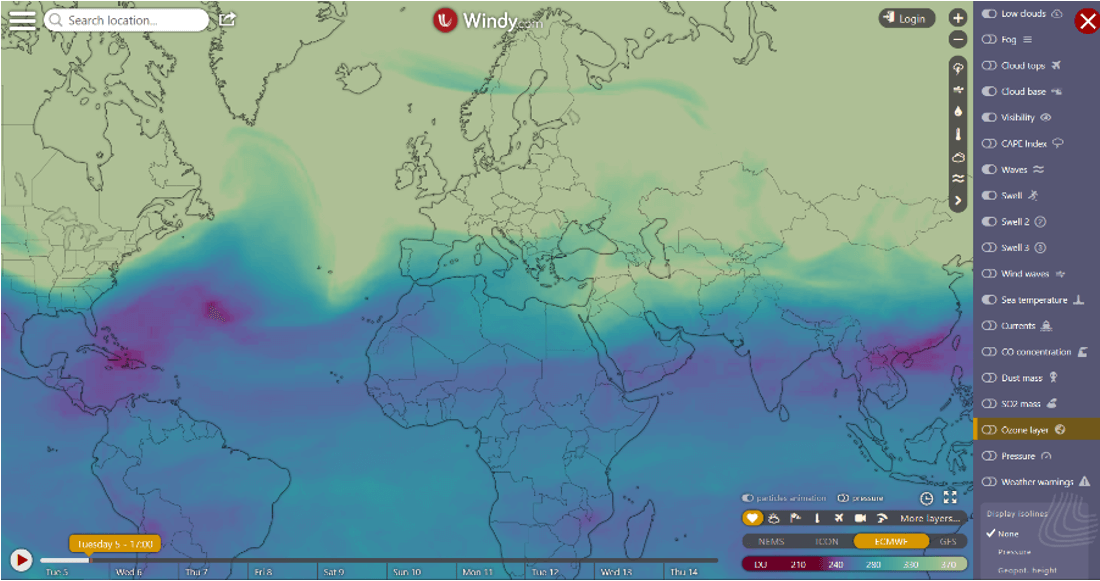 Partnerství Copernicus ECMWF a WINDY